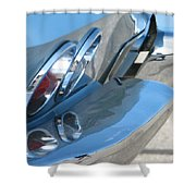 Taillight Reflections Shower Curtain