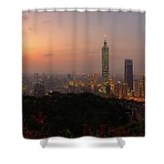 Taipei 101, Taiwan Shower Curtain