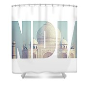 Taj Mahal , A Famous Historical Monument, A Monument Of Love, The Greatest White Marble Tomb In India, Agra, Uttar Pradesh  Shower Curtain