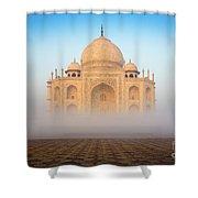 Taj Mahal In The Mist Shower Curtain