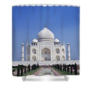Taj Mahal Landscape Shower Curtain