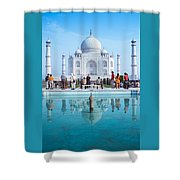 Taj Mahal  Shower Curtain by Nila Newsom