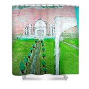 Taj Mahal Noon Shower Curtain