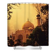 Taj Mahal Sunset Shower Curtain