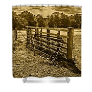 Take A Fence Shower Curtain