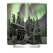 Take A Seat For The Aurora Custom 1x1 Shower Curtain