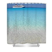 Take Me Back To Half Moon Cay Shower Curtain
