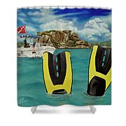 Take Me To Creole Rock Shower Curtain