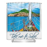 Take Me To Saba Shower Curtain