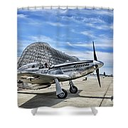 Take Off P-51 Mustang  Shower Curtain