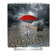Take This.. It May Rain Shower Curtain