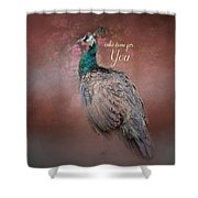 Take Time For You - Peacock Art Shower Curtain
