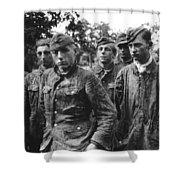 taken prisoner in Normandy Shower Curtain