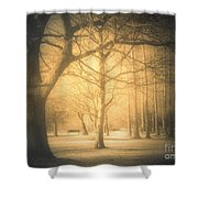 Taking Cover Shower Curtain