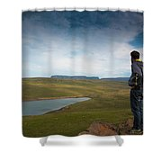 Taking It All In Shower Curtain