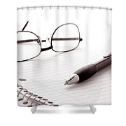 Taking Notes Shower Curtain
