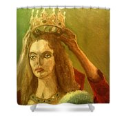 Taking Off The Crown Shower Curtain