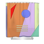 Taking Shape Shower Curtain by Richard Rizzo