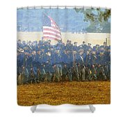 Taking The Field Shower Curtain