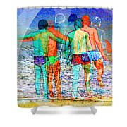 Taking The Plunge Together Shower Curtain