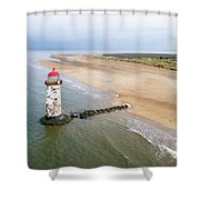 Talacre Aerial 2 Shower Curtain