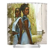 Tale Of Two Sister Shower Curtain