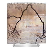 Tales From The Riverbank  Iv Shower Curtain
