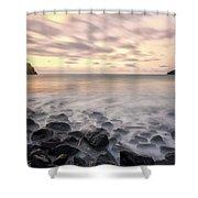 Talisker Bay Boulders At Sunset Shower Curtain