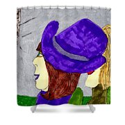 Talk Show Hide Out Shower Curtain