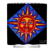 Talking Sun Shower Curtain