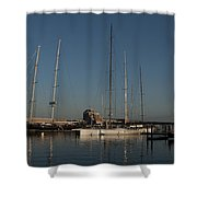 Tall Boats In The Morning Shower Curtain