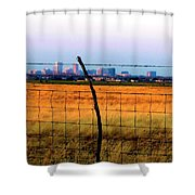 Tall City Morning Shower Curtain