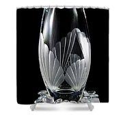 Tall Crystal Vase Shower Curtain