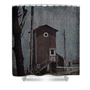 Tall Little Stilt House 3 Shower Curtain