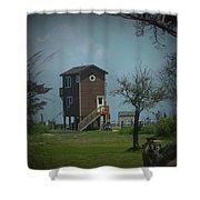 Tall Little Stilt House, Shower Curtain