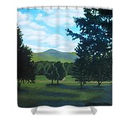 Tall Pines Surround Your Green Hills Shower Curtain