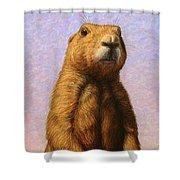 Tall Prairie Dog Shower Curtain