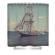 Tall Ship - 3 Shower Curtain