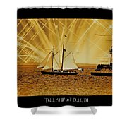 Tall Ship At Duluth Shower Curtain