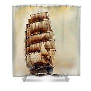 Tall Ship Carradale Shower Curtain