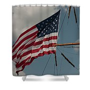 Tall Ship Flag I Shower Curtain