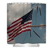 Tall Ship Flag IIi Shower Curtain