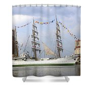 Tall Ship In Tampa Bay Shower Curtain