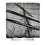 Tall Ship Mast V3 Shower Curtain