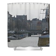 Tall Ship Of Copenhagen Shower Curtain