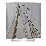 Tall Ship Rigging Shower Curtain