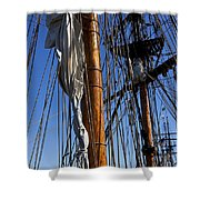 Tall Ship Rigging Lady Washington Shower Curtain