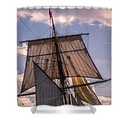 Tall Ship Sails 6 Shower Curtain