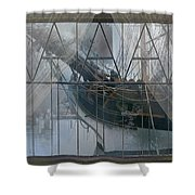 Tall Ship Through A Window Shower Curtain