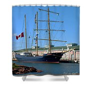 Tall Ship Waiting Shower Curtain